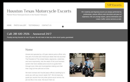 Houston Motorcycle Escorts