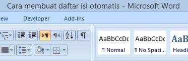 Cara Membuat Daftar Isi Otomatis pada Ms Word |
