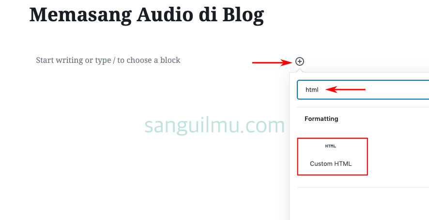 Memasang Audio Play di Website tanpa Plugin | Blogger dan Wordpress |