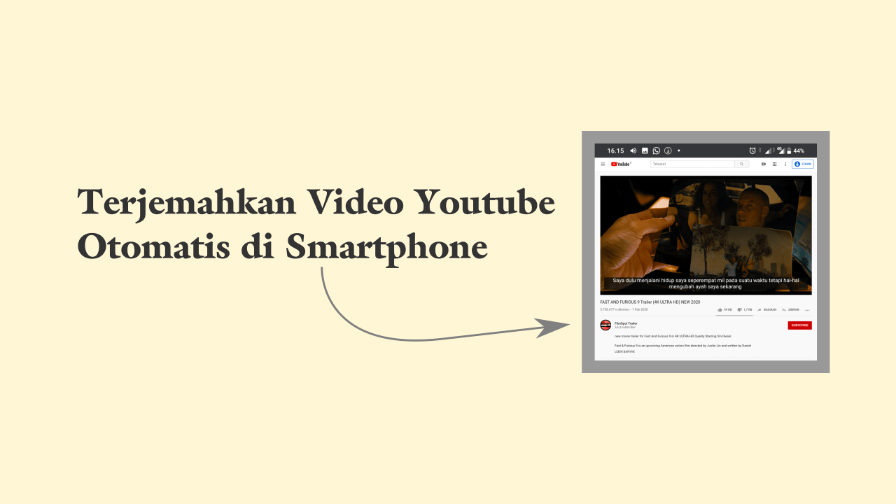 Cara Translate video youtube otomatis di Android