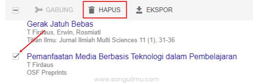 Cara Menambah dan Menghapus Artikel di Akun Google Scholar |