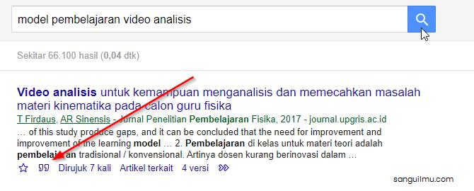 Membuat Daftar Pustaka dari Google Scolar