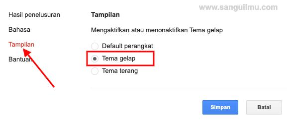 Cara Mengubah Tema Gelap di Google Penelusuran