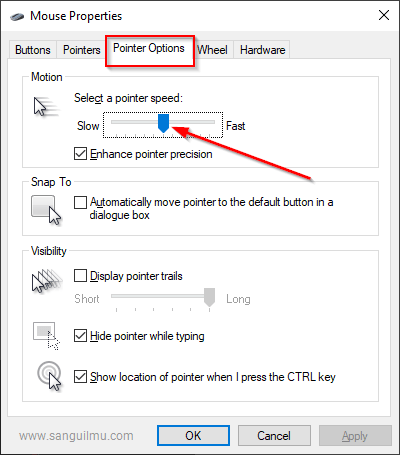 Cara Mengatur Kecepatan Pergerakan Mouse di Windows 10