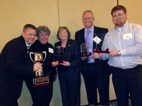 L to R, from The Sanibel & Captiva Islands Assoc of Realtors: Shane Spring 2013 Realtor of the Year, SanibelSusan, Peggy Hummel CEO, Eric Pfeifer 2014 Prez-Elect, & Bill Robinson, MLS Director.