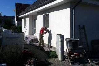 Während der Sanierung der Fassade