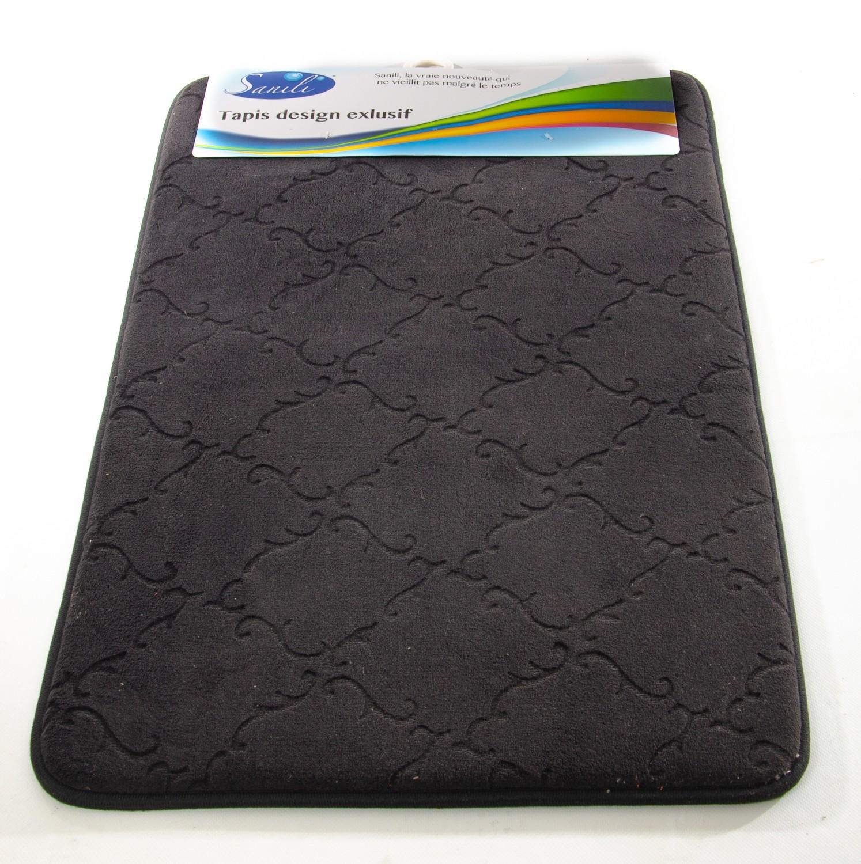 tapis de cuisine noir 51x76cm sanili