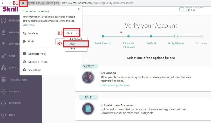 Hướng dẫn xác minh tài khoản ví điện tử Skrill