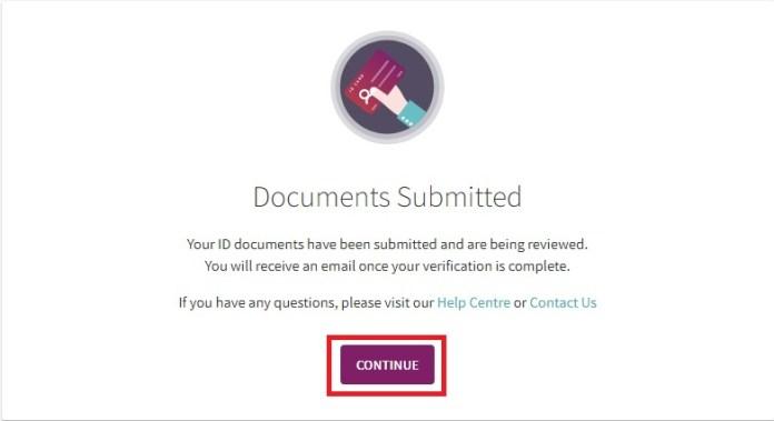 Xác nhận review giấy tờ của hệ thống ví Skrill