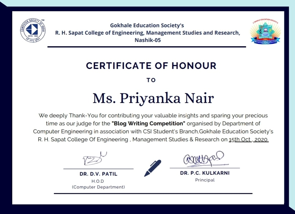 About Me - Priyanka Joshi Founder of Sanity Daily