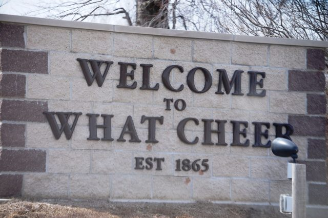 What Cheer Town Sign