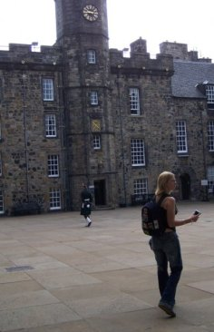 Best is when I don't even know the cameras on me! Me at the Edinburgh castle