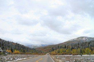 Scenic Highway 189 runs through the Uinta Mountains