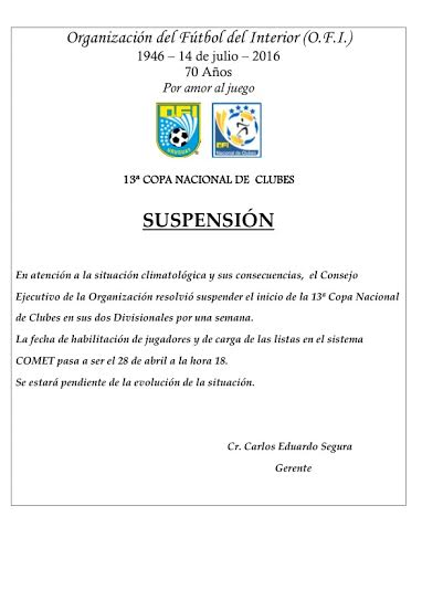 suspencion ofi