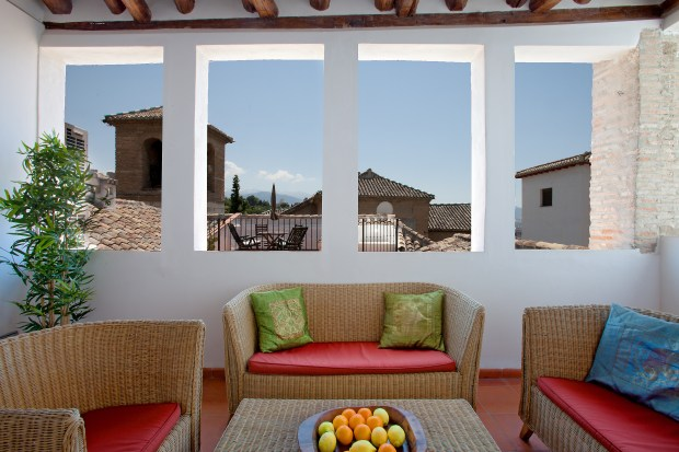 torreon terrace with views of the Sierra Nevada