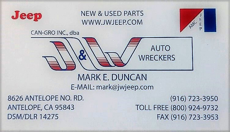 CAN-GRO INC dba - J&W Auto Wreckers - New & Used Jeep Parts