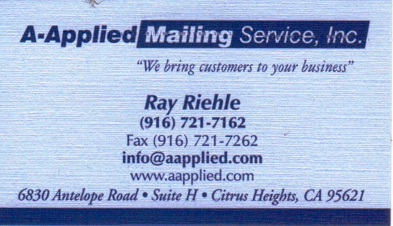 Ray Riehle - A-Applied Mailing Service, Inc.