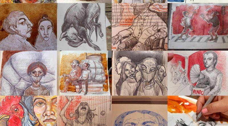 Alejandra Carabante abre las puertas de su taller para vender sus dibujos