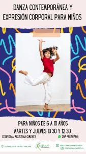 Danza contemporánea y expresión corporal para niños