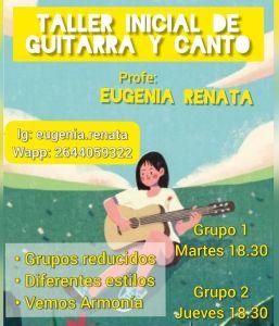 Taller inicial de guitarra y canto para adolescentes y adultos