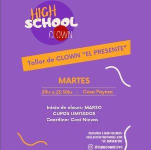 Todos los martes: taller de Clown