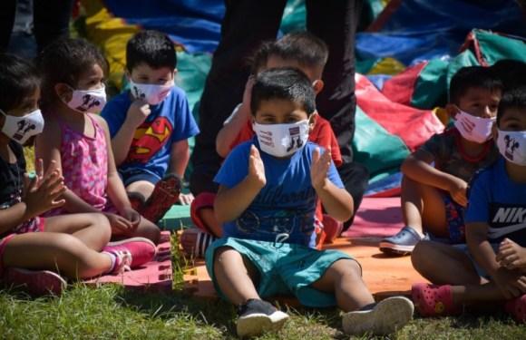Más de 80 niños y niñas reciben contención en los Jardines de Cosecha en Jáchal