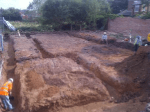 Excavating Fordations for the Nutgrove Community Centre