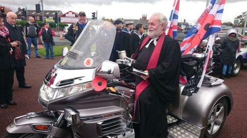 WBM Joins Royal British Legion Bikers and Leads Remembrance at the War Memorial