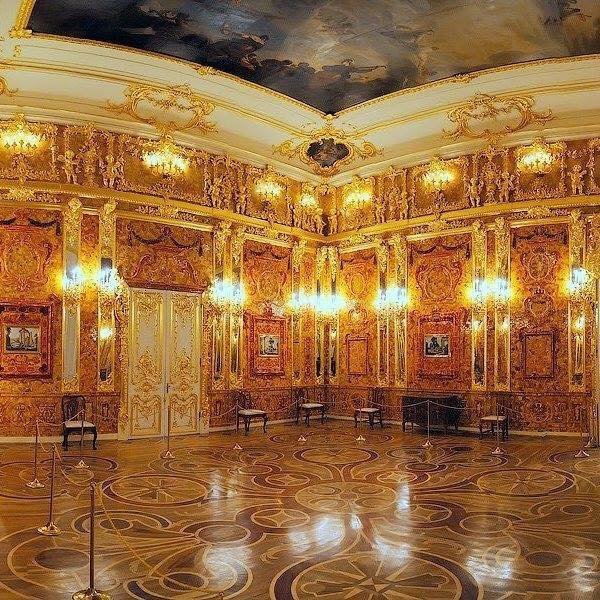 Amber room, Catherine Palace, St. Petersburg