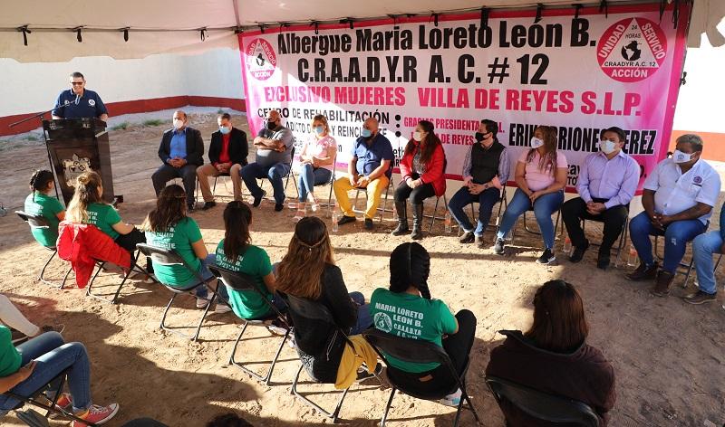 Aperturan Centro de Rehabilitación Femenil en Villa de Reyes.