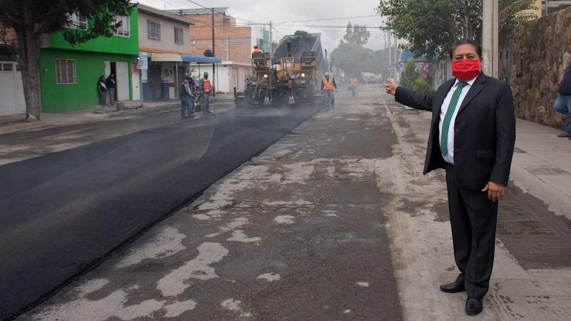 Ayuntamiento de Soledad moderniza las calles Parque Agua Azul y Lagos de Moreno