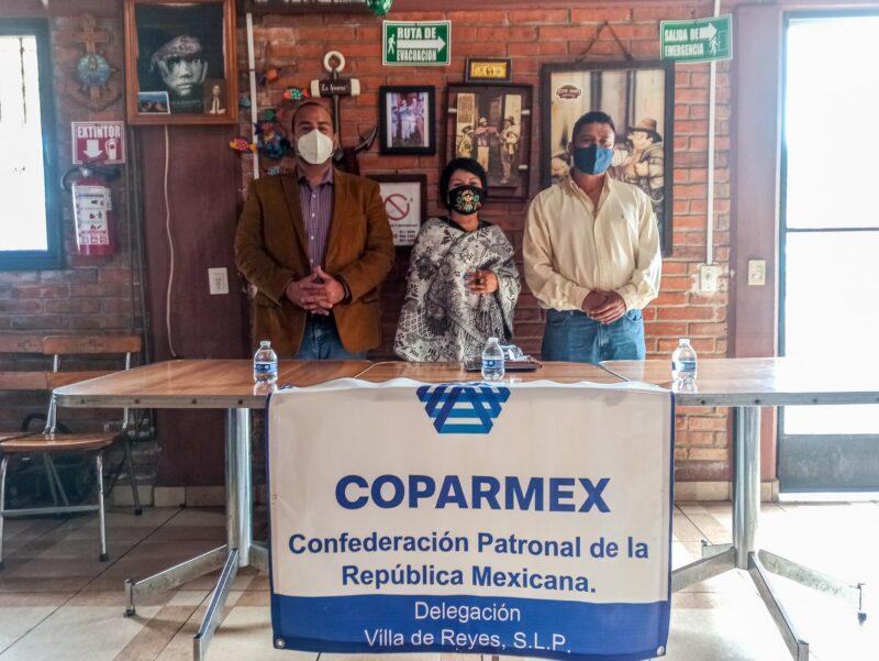 Quedará instalada la delegación COPARMEX en Villa de Reyes