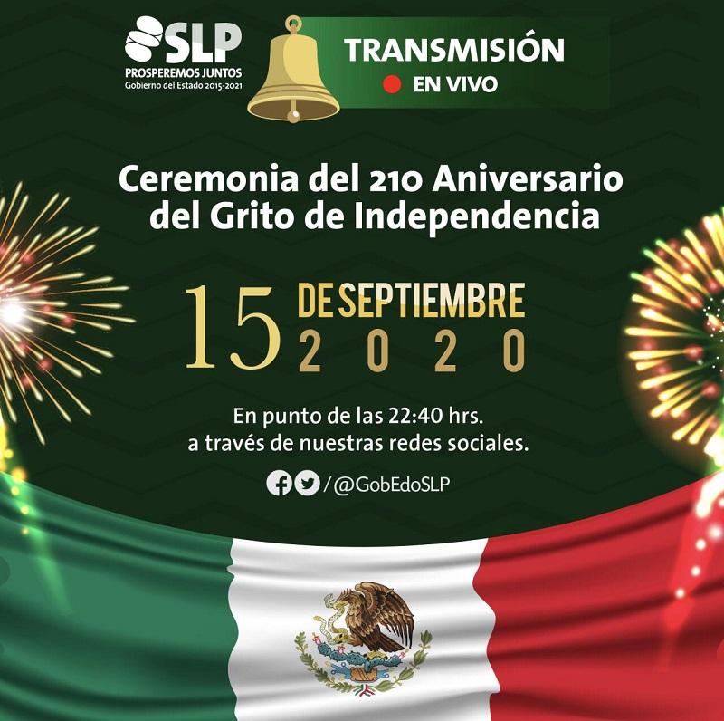 Por contingencia sanitaria, actividades del Día de la Independencia, serán virtuales