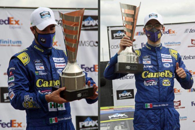 Uno y dos para García Jr. y De Alba Jr. en NASCAR Peak y Challenge Puebla carrera uno