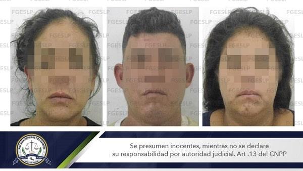FGESLP detuvo a dos mujeres y un hombre, por presunto robo a comercio