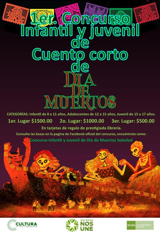 Dirección de Cultura invita a participar en su concurso infantil y juvenil de cuento corto de Día de Muertos.