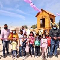 Ayuntamiento villarreyense, entrega una área más de esparcimiento infantil en cabecera municipal