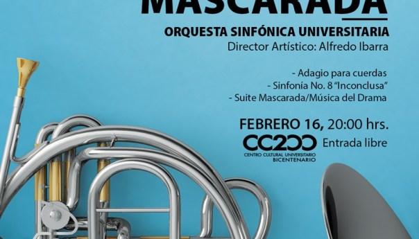 """La Orquesta Sinfónica Universitaria prepara el concierto """"mascarada"""""""