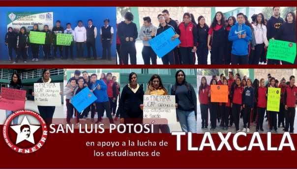 Estudiantes potosinos firmes en apoyo a Tlaxcala