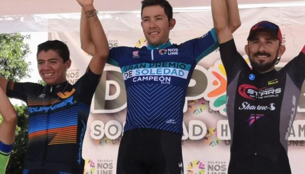 Orlando garibay se queda con el gran premio de ciclismo de soledad