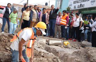 Mejora ayuntamiento drenaje y pavimentación en el sur de la ciudad