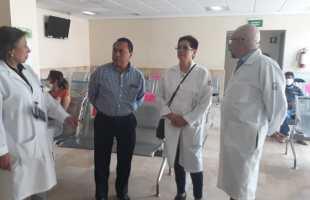 realizan un recorrido por el Hospital General de Zona No. 1 de la capital potosina, para supervisar las áreas de atención médica para pacientes en contingencia COVID 19
