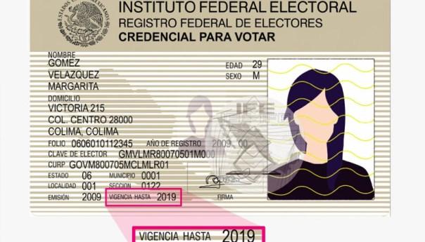 Amplía INE vigencia de la credencial para votar