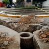 Trabaja INTERAPAS en reposición de red de drenaje en colonia viveros