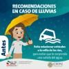 Pronóstico de lluvia y granizo para SLP