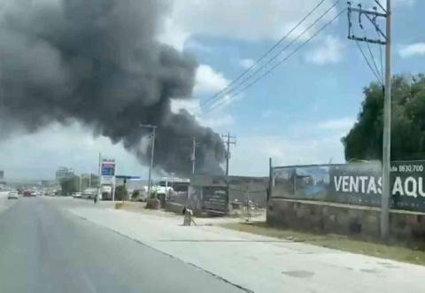 Explosión en fábrica sacude a la capital potosina
