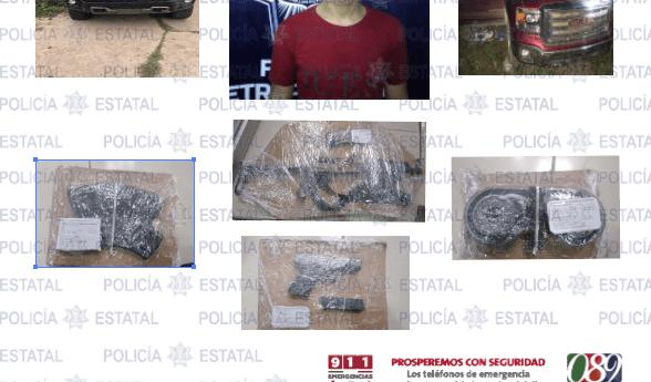 Aseguran SSPE y SEDENA, armas, vehículos y localizan presuntos restos humanos; hay un detenido