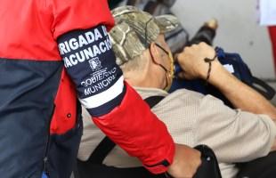 Gobierno municipal y federal coordinados en proceso de vacunación