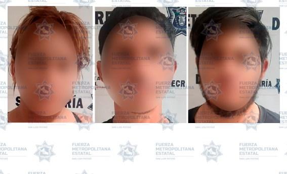 Policías estatales detienen a cuatro presuntos por allanamiento