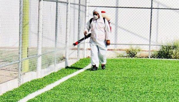 Se redobla sanitización en espacios deportivos para proteger a usuarios